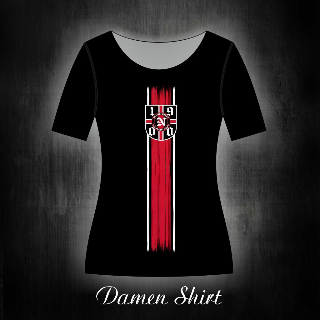 Damen T-Shirt einseitig bedruckt  Vintage Streifen mit 1900 Logo