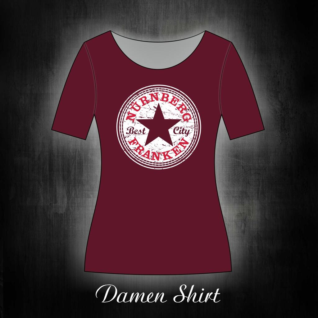 Damen T-Shirt einseitig bedruckt  Star