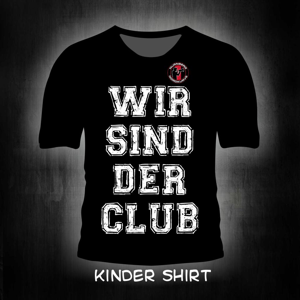 Kinder T-Shirt einseitig bedruckt  Wir sind der Club