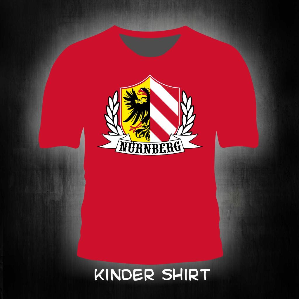 Kinder T-Shirt einseitig bedruckt Stadtwappen + Lorbeerkranz