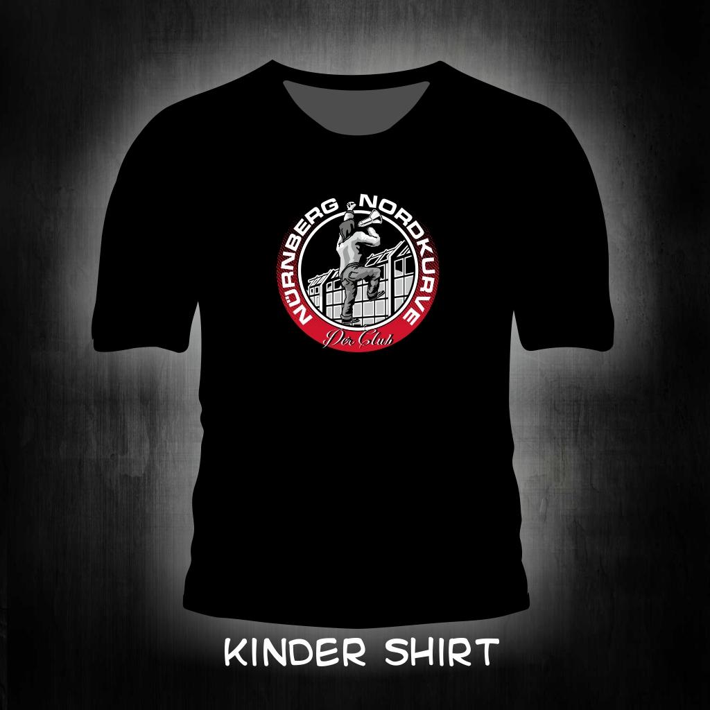 Kinder T-Shirt einseitig bedruckt  Megaphon Mann am Zaun