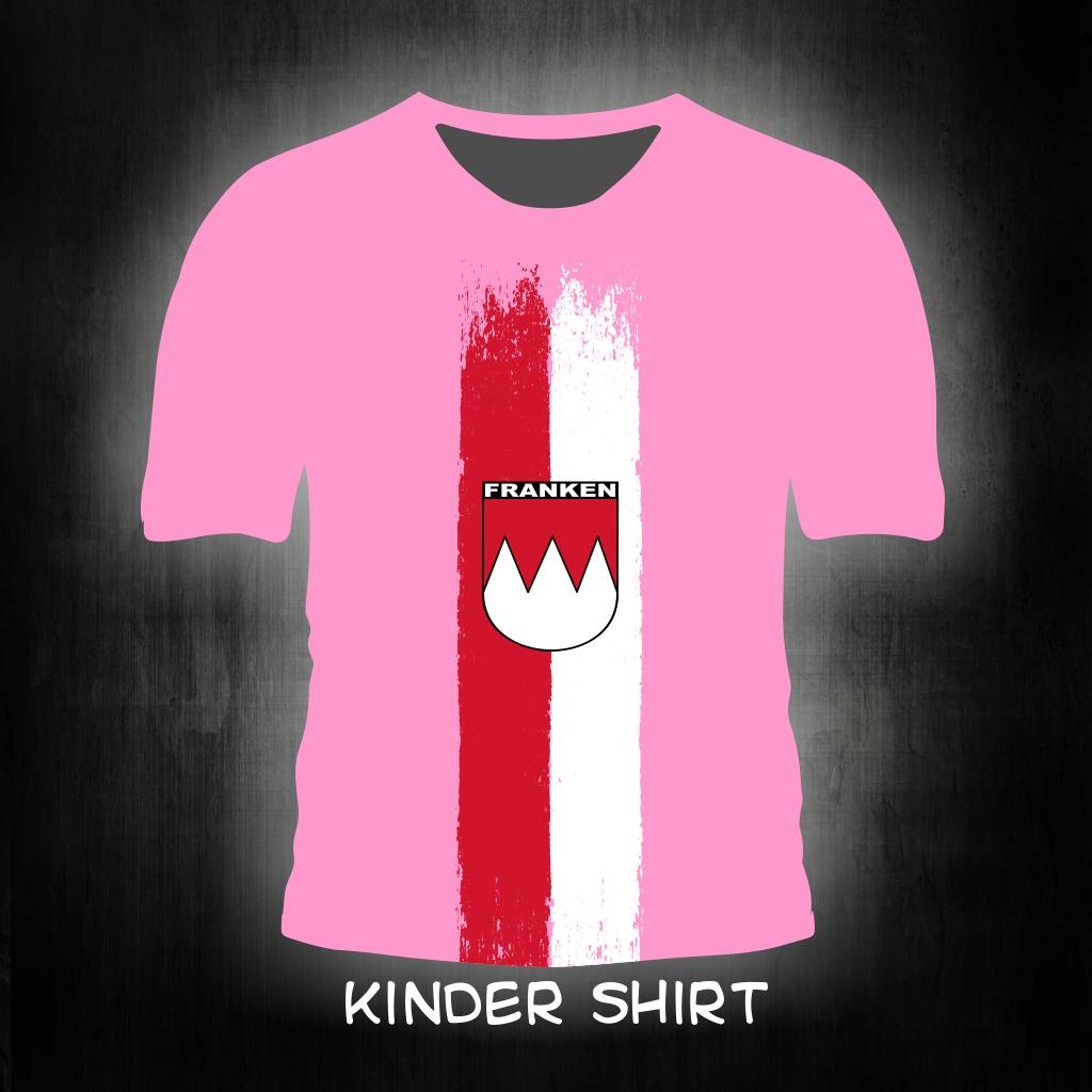 Kinder T-Shirt einseitig bedruckt  Franken vintage pink