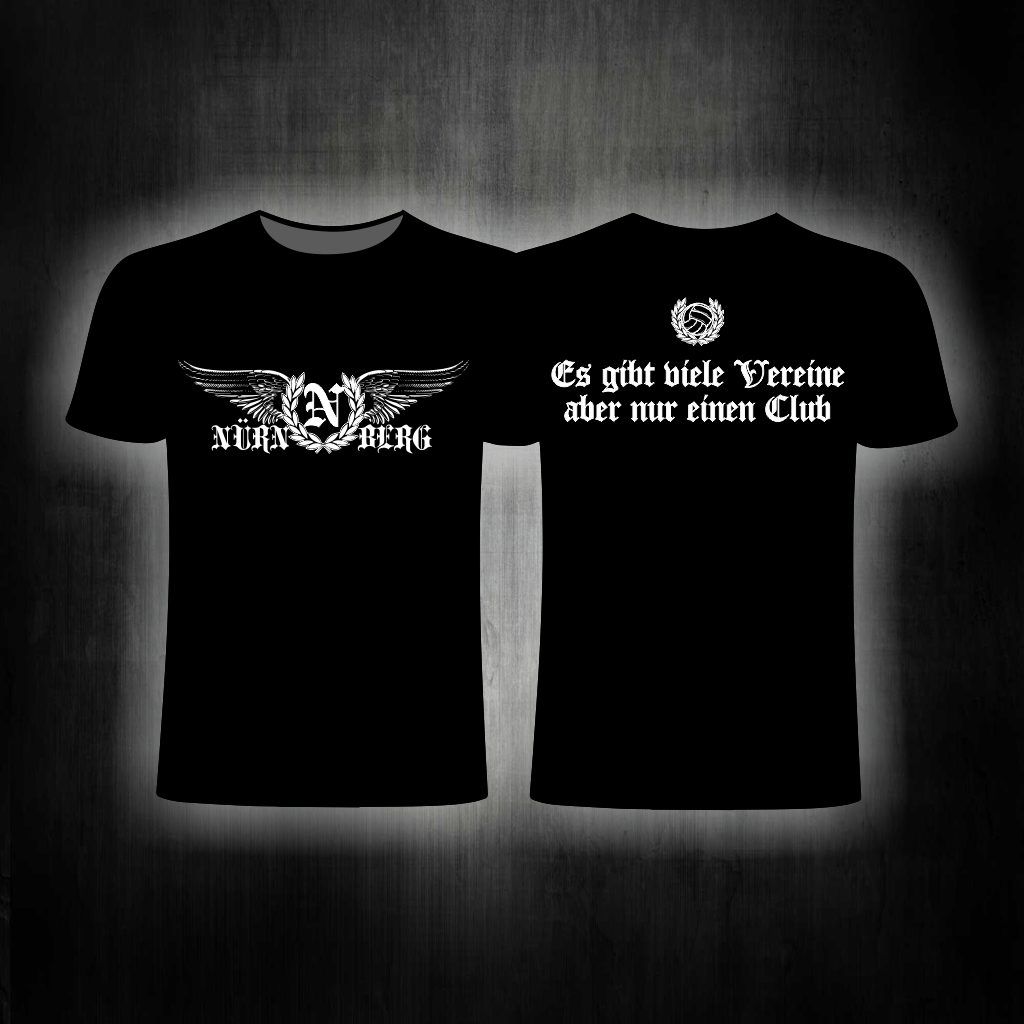 T-Shirt beidseitig bedruckt  Es gibt viele Vereine aber nur eine