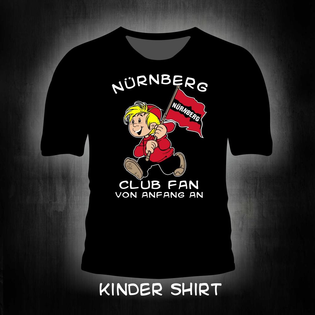 Kinder T-Shirt einseitig bedruckt Club Fan von Anfang an