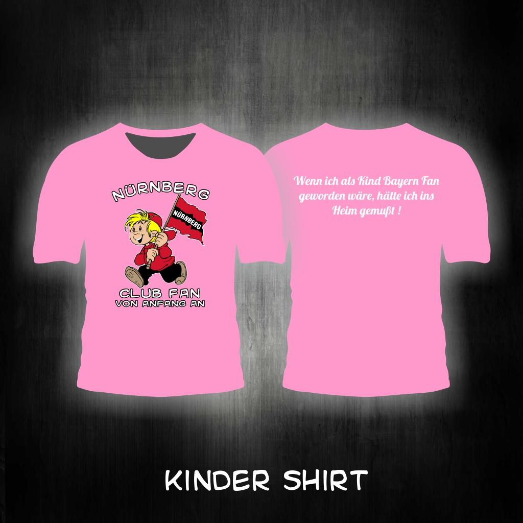 Kinder T-Shirt beidseitig bedruckt  Wenn ich als Kind Bayern Fan