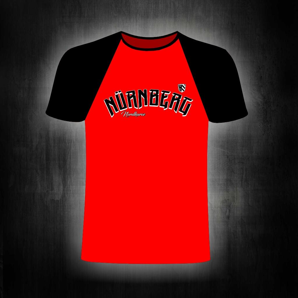T-Shirt einseitig bedruckt  Nürnberg gebogen Nordkurve