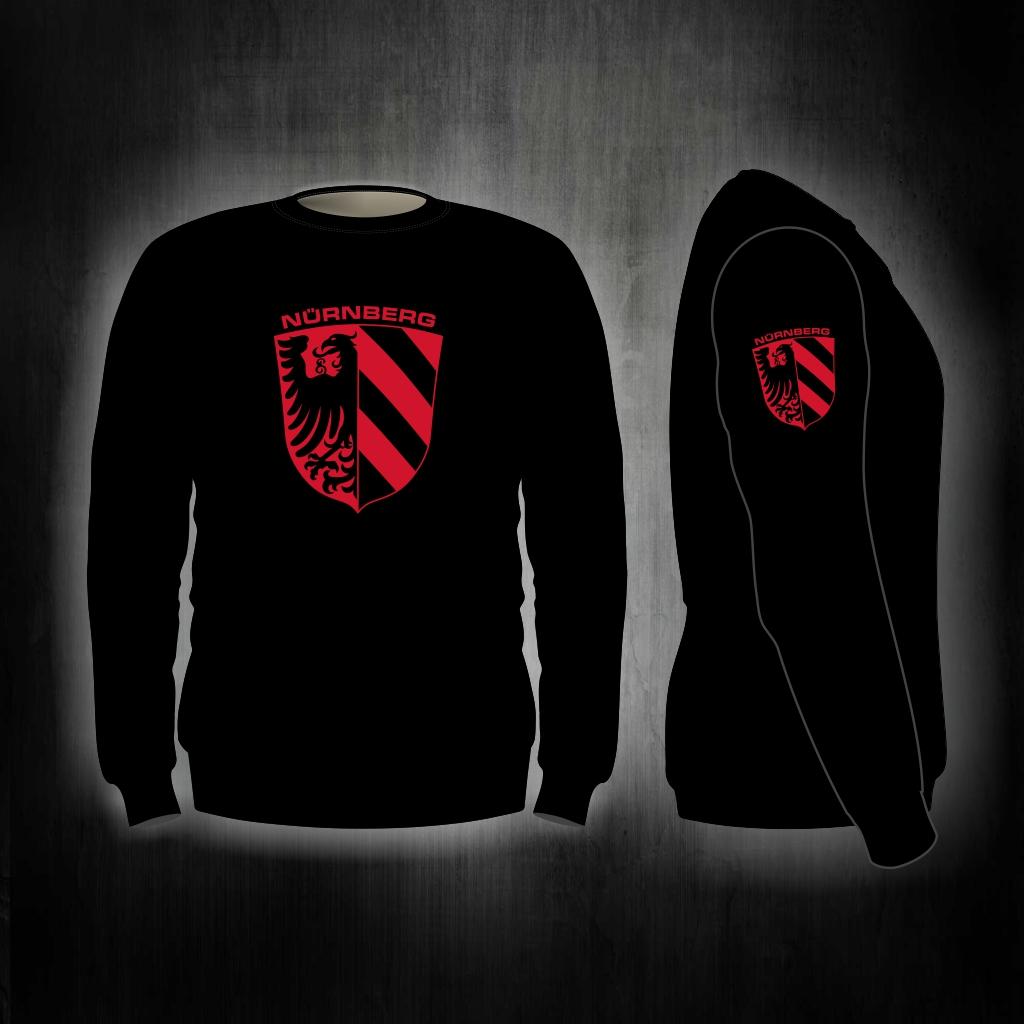 Sweat Shirt  Front + Ärmeldruck   Stadtwappen rot-schwarz