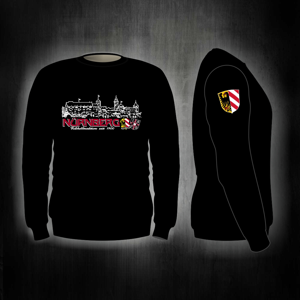 Sweat Shirt  Front + Ärmeldruck   Fußballtradition seit 1900