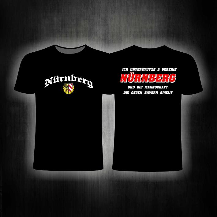 T-Shirt beidseitig bedruckt  ich unterstütze 2 Vereine