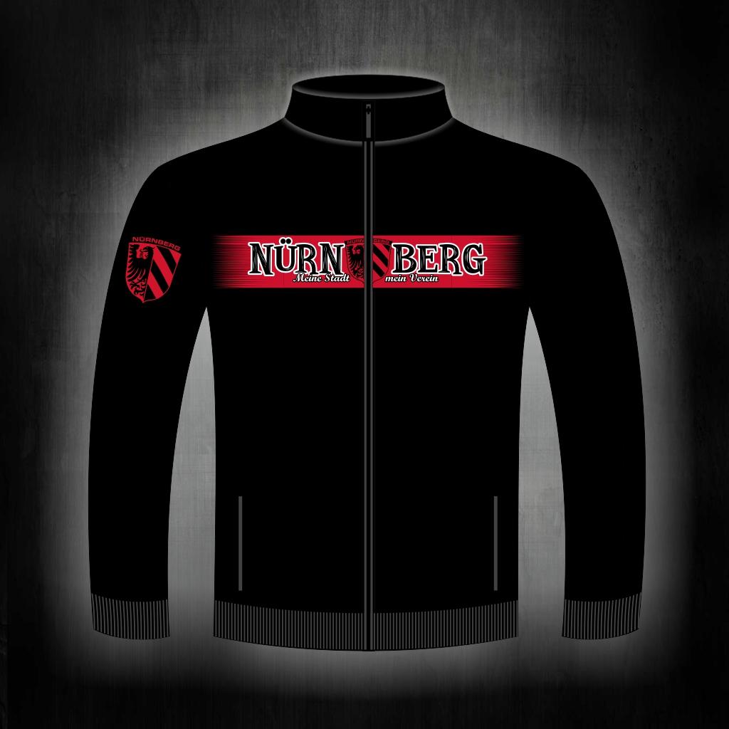 Sweat Jacke mit Zipper, 2 Taschen  Nürnberg meine Stadt mein Ve