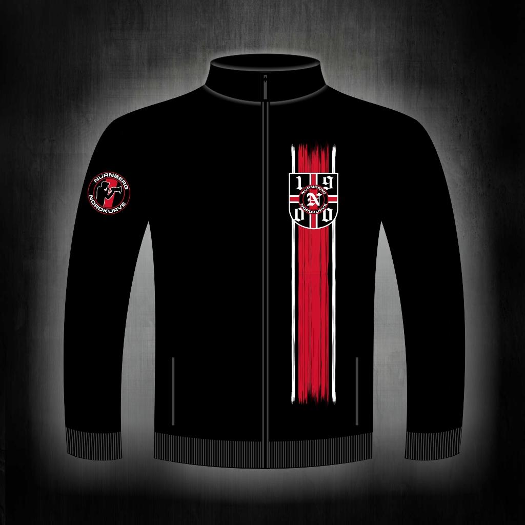Sweat Jacke mit Zipper, 2 Taschen  1900 Logo
