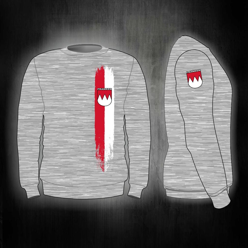 Sweat Shirt  Front + Ärmeldruck   Franken