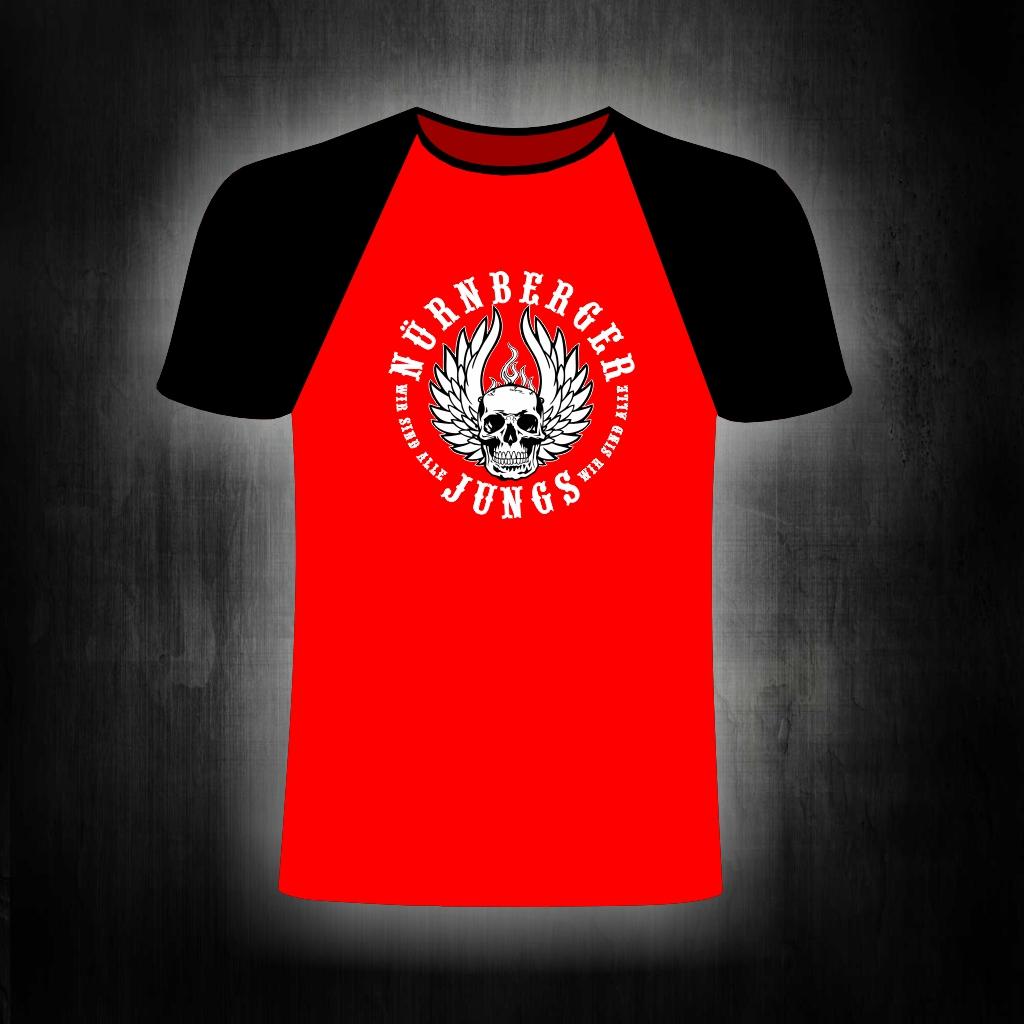 T-Shirt einseitig bedruckt  Nürnberger Jungs