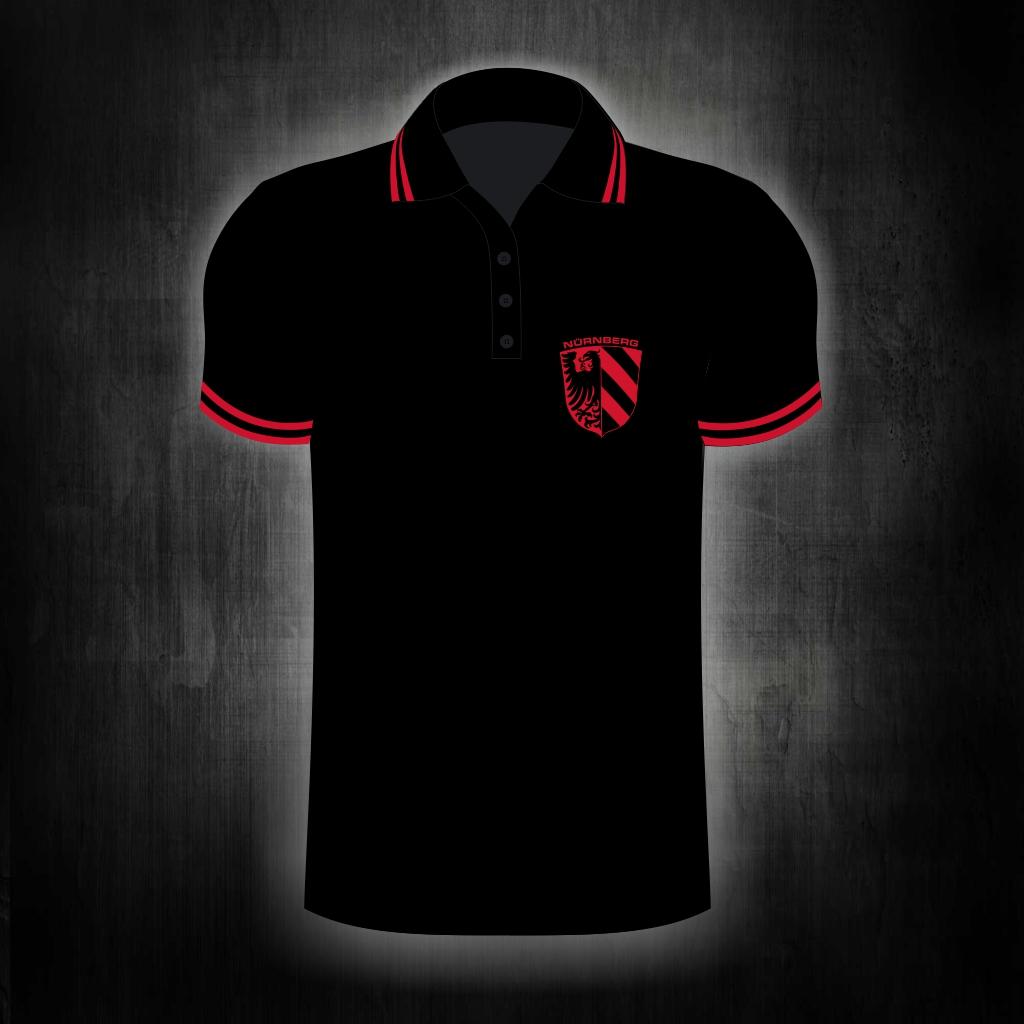 Polo Shirt, einseitig bedruckt  Stadtwappen old school