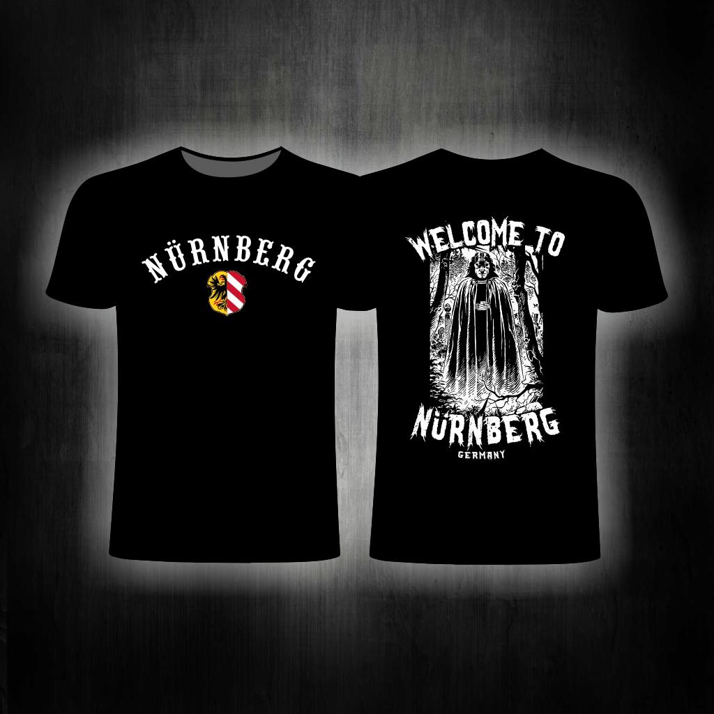 "T-Shirt beidseitig bedruckt ""Welcome to Nürnberg"" schwarz"