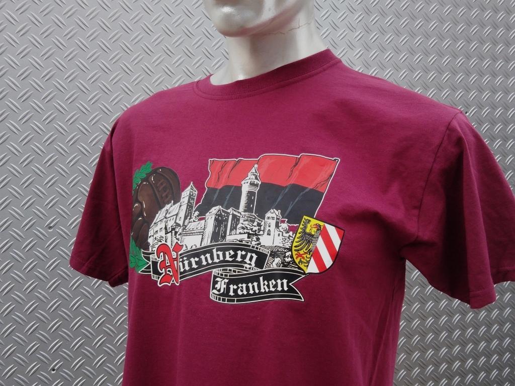 T-Shirt einseitig bedruckt  Franken Skyline Retroball