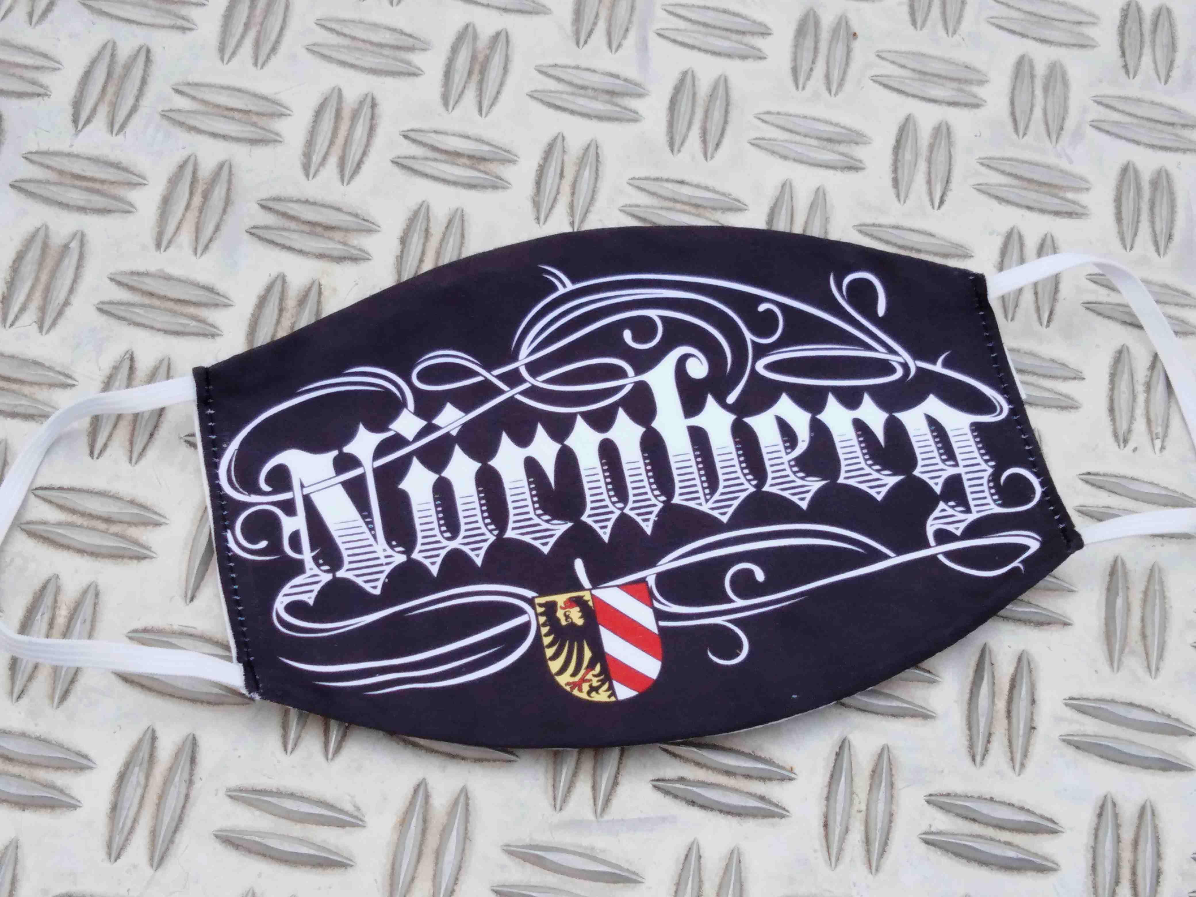 Gesichtsmaske für Glubberer Nürnberg Tattoo Style Herrengröß