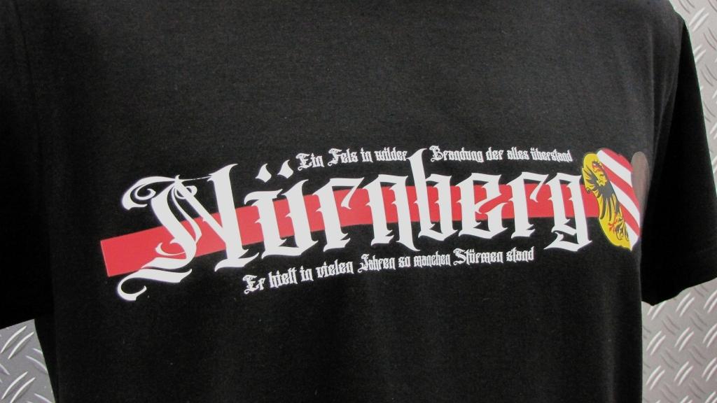 T-Shirt einseitig bedruckt   Ein Fels in wilder Brandung
