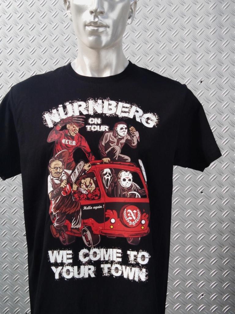 T-Shirt einseitig bedruckt  Monster on Tour  schwarz