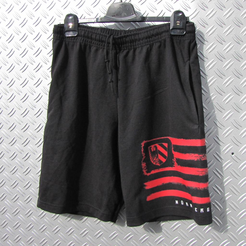 kurze Sweat Hose schwarz Vintage Fahne