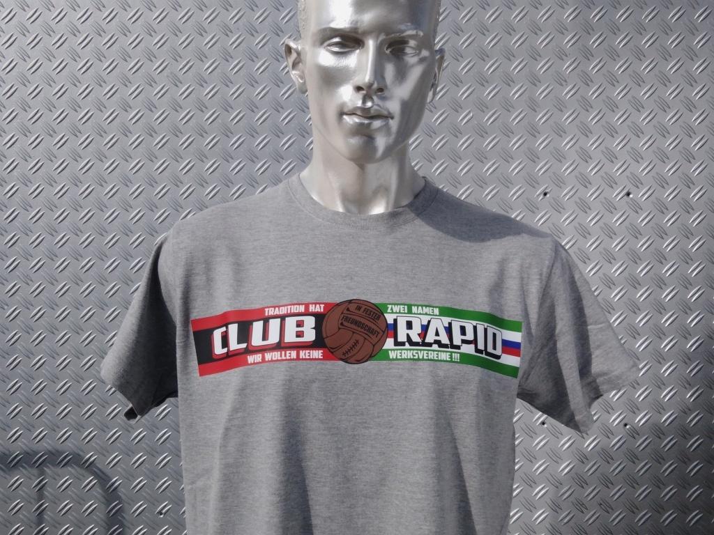 T-Shirt einseitig bedruckt  Club Rapid Freundschaft