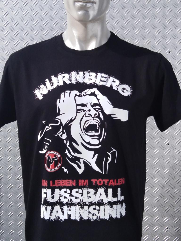 T-Shirt einseitig bedruckt  Fussball Wahnsinn