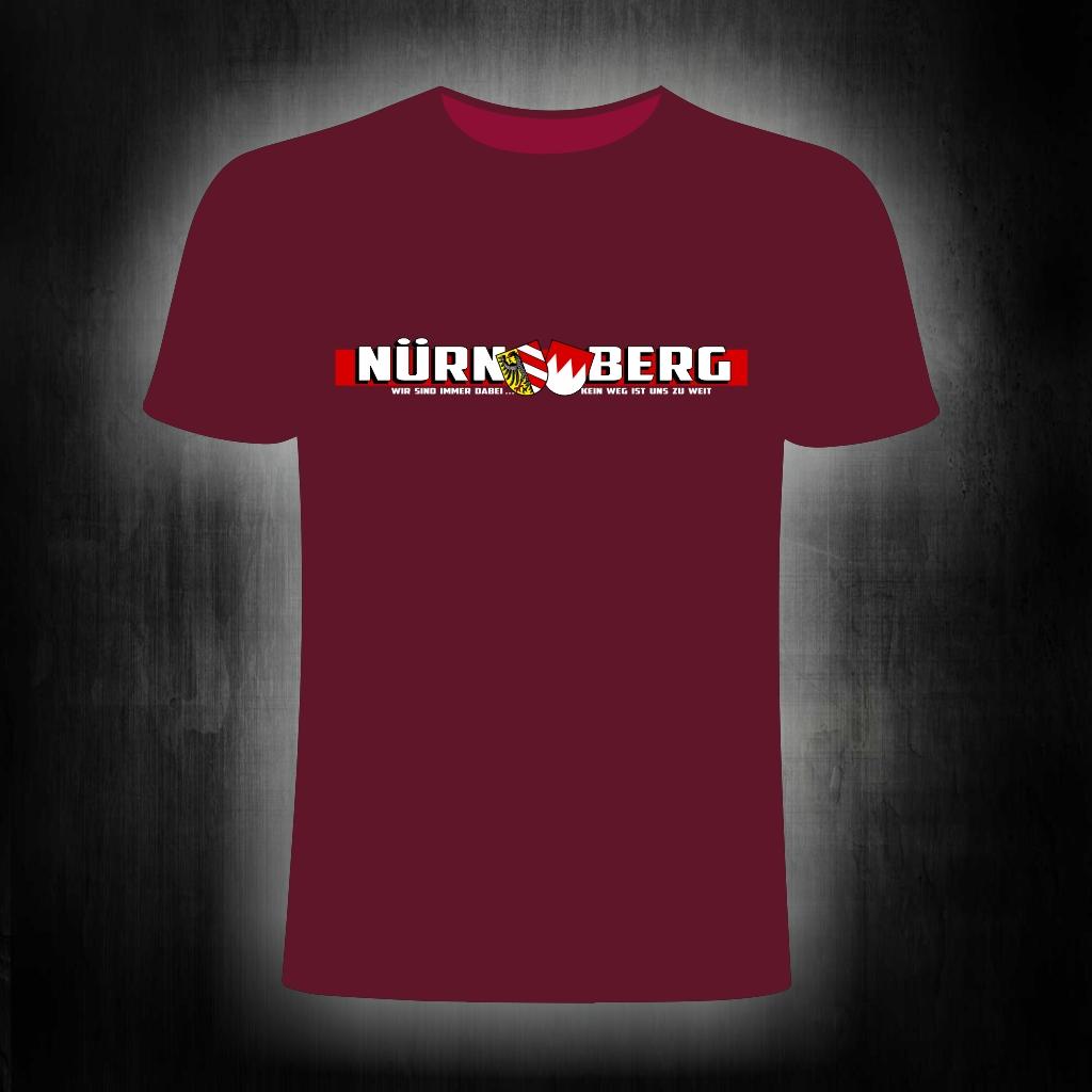 T-Shirt einseitig bedruckt  Wir sind immer dabei   kein Weg ist