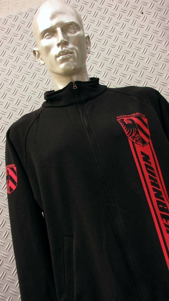 Sweat Jacke mit Zipper, 2 Taschen  Nürnberg Streifen