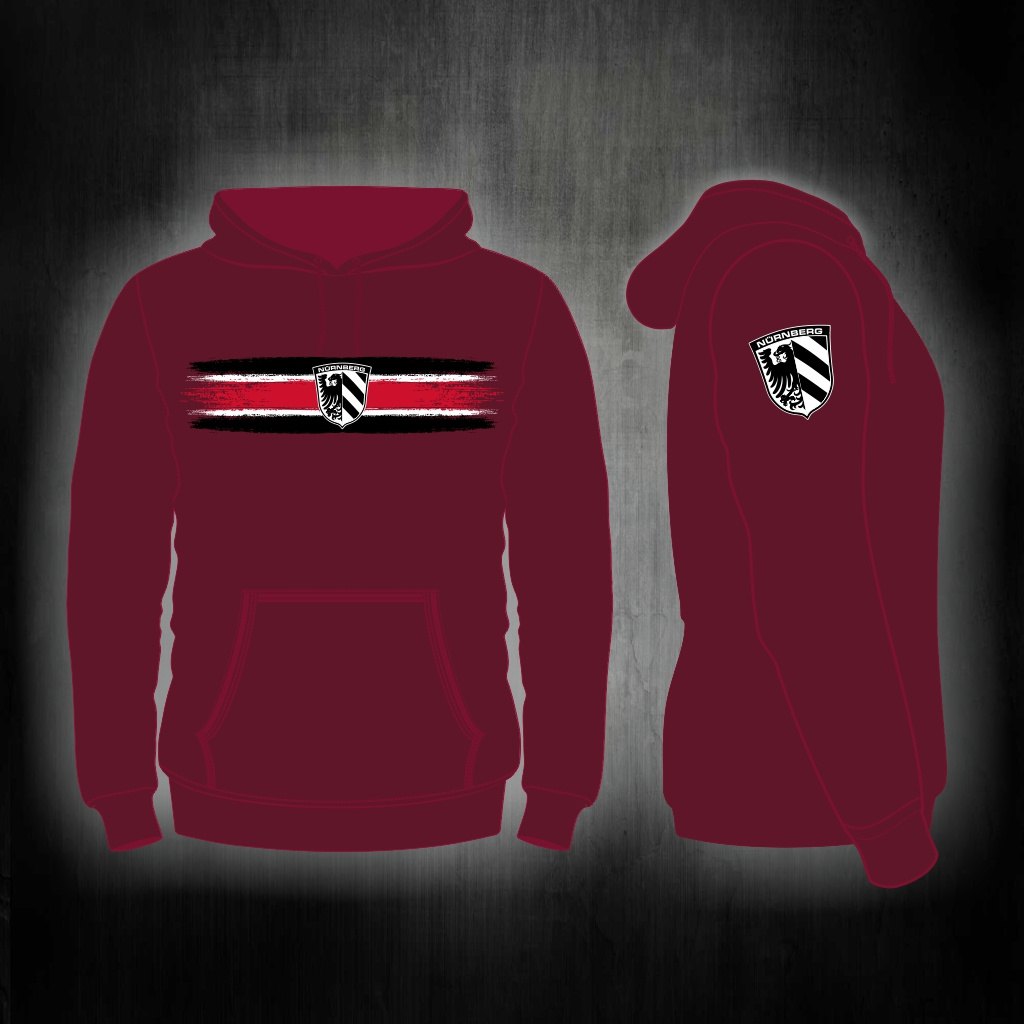 Kapuzensweat Shirt Front + Ärmeldruck  Vintage Streifen Motiv