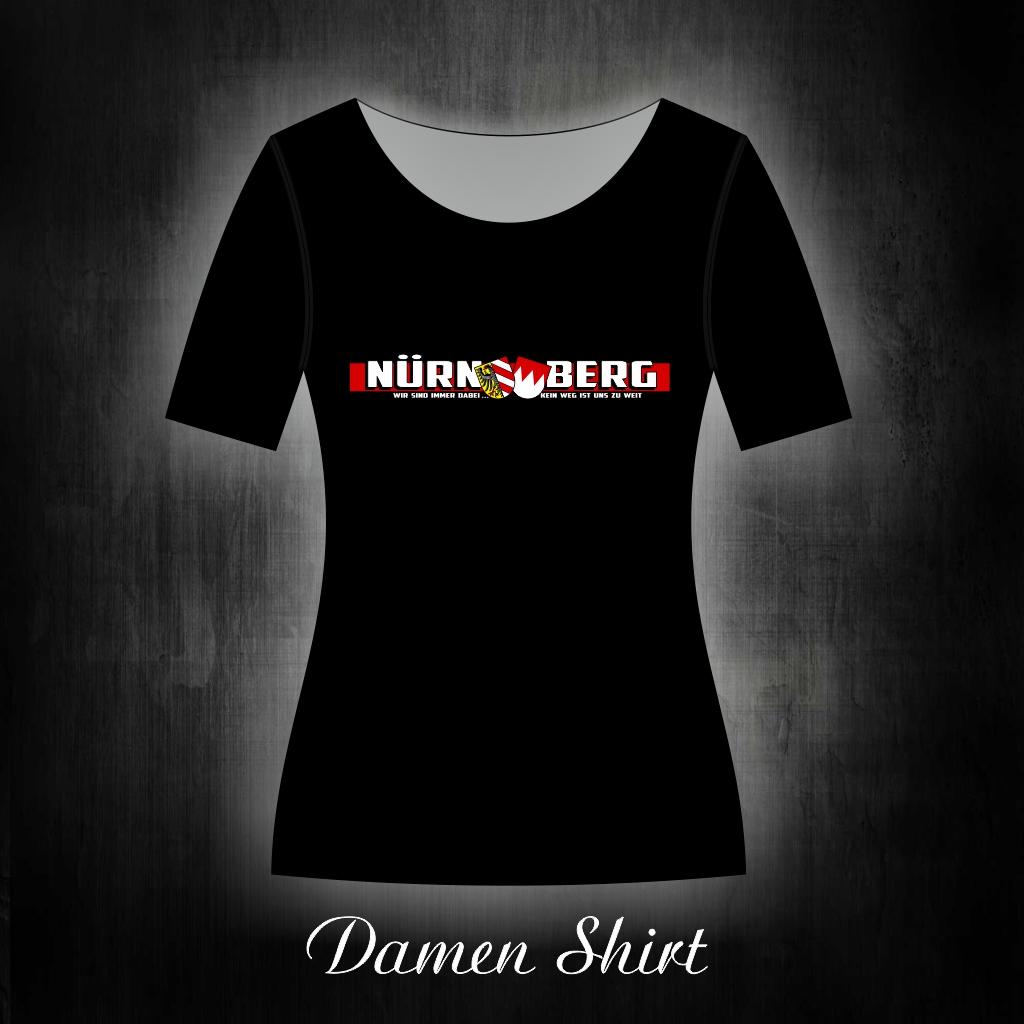 Damen T-Shirt einseitig bedruckt  SWir sind immer dabei