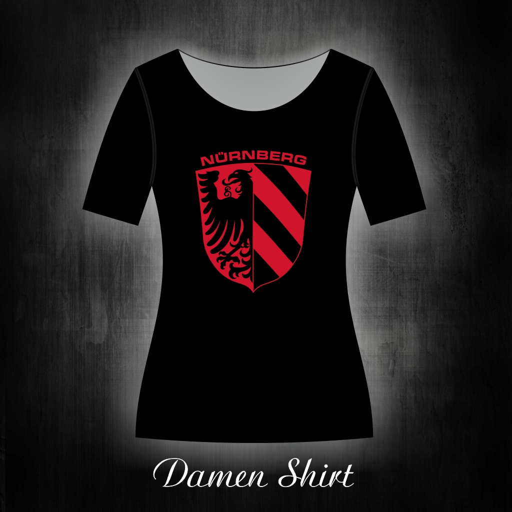 Damen T-Shirt einseitig bedruckt  rotes Stadtwappen