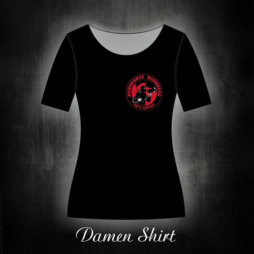 Damen T-Shirt einseitig bedruckt  Nordkurve 100% Support