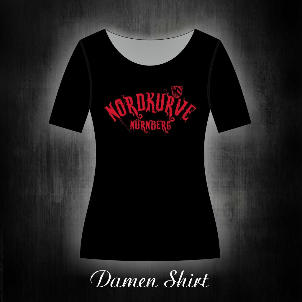 Damen T-Shirt einseitig bedruckt  Nordkurve Nürnberg