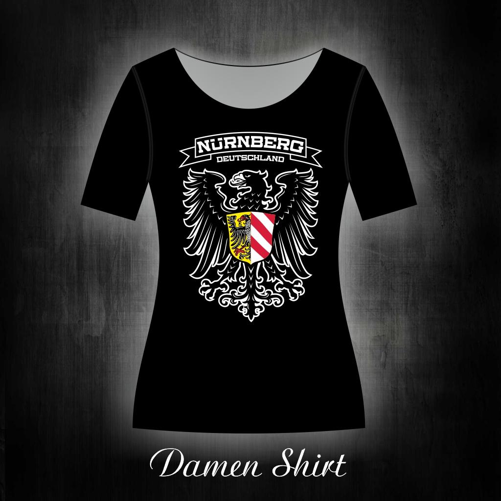 Damen T-Shirt einseitig bedruckt  Adler