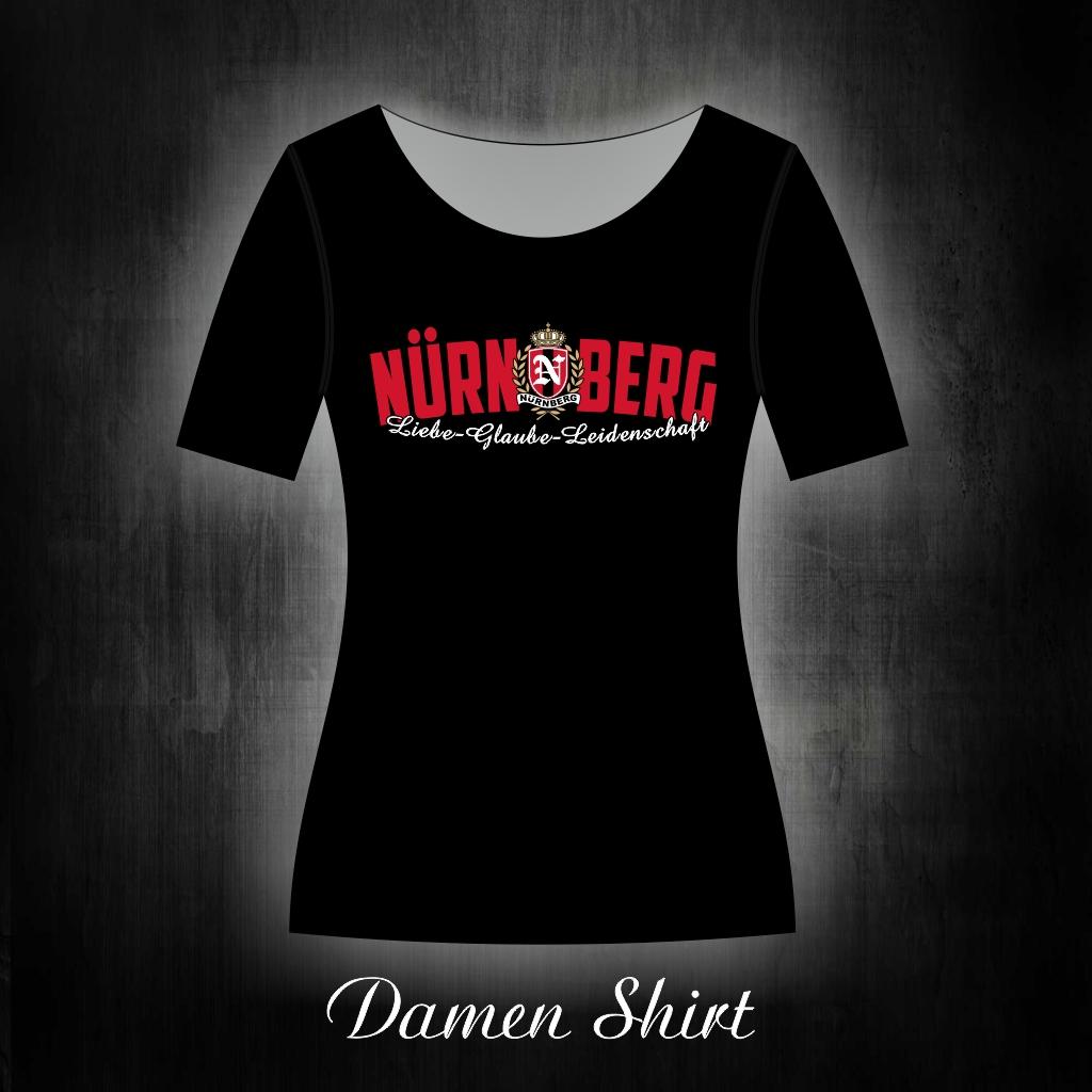 Damen T-Shirt einseitig bedruckt  Liebe Glaube Leidenschaft