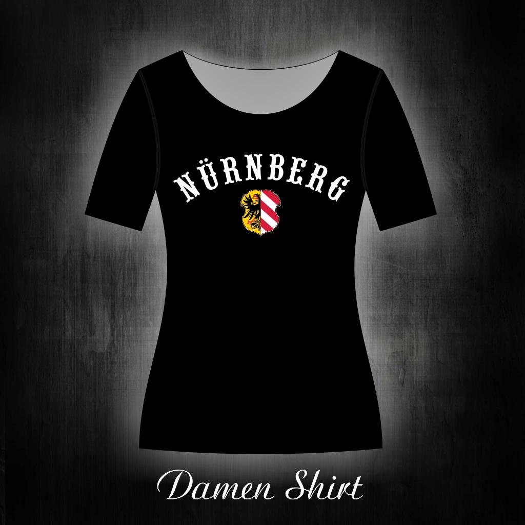 Damen T-Shirt einseitig bedruckt  Schriftzug gebogen