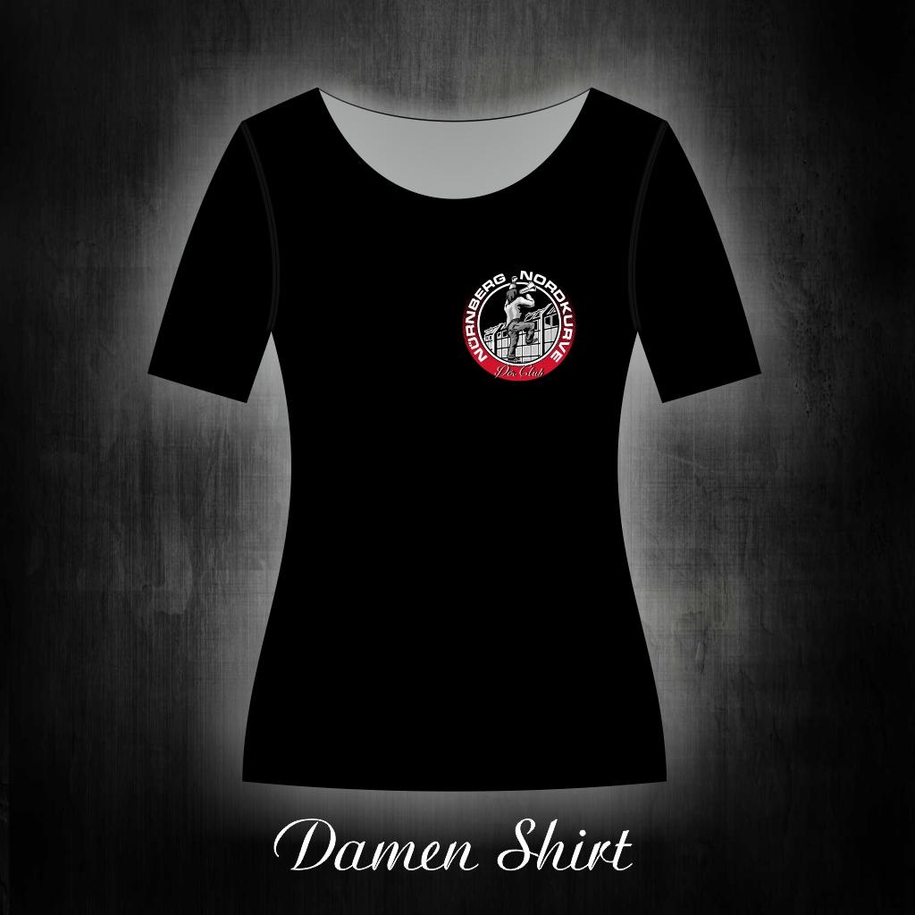 Damen T-Shirt einseitig bedruckt  Ultra am Zaun