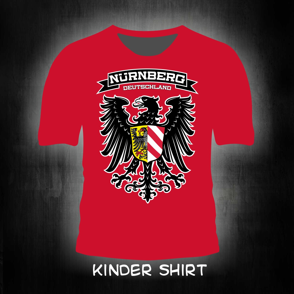 Kinder T-Shirt einseitig bedruckt Adler Stadtwappen