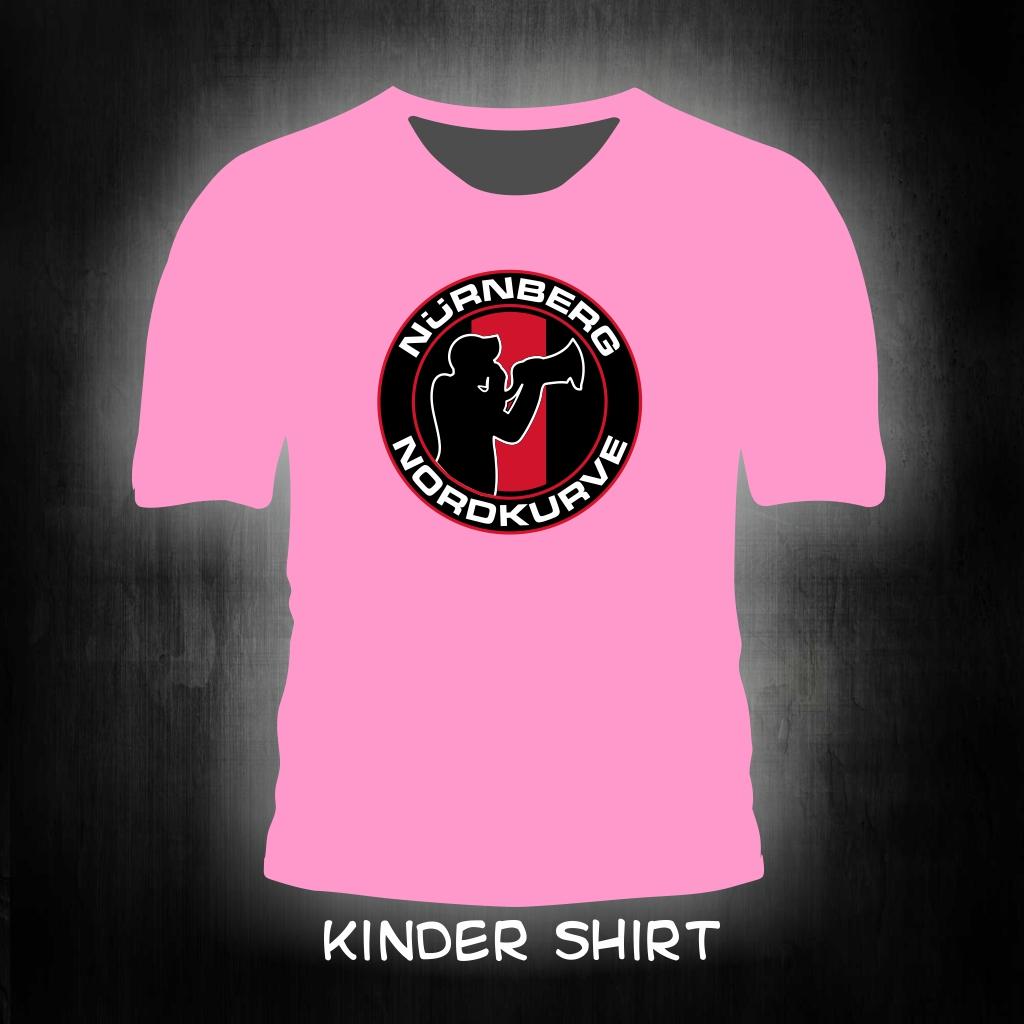 Kinder T-Shirt einseitig bedruckt Nordkurve Megafon Mann