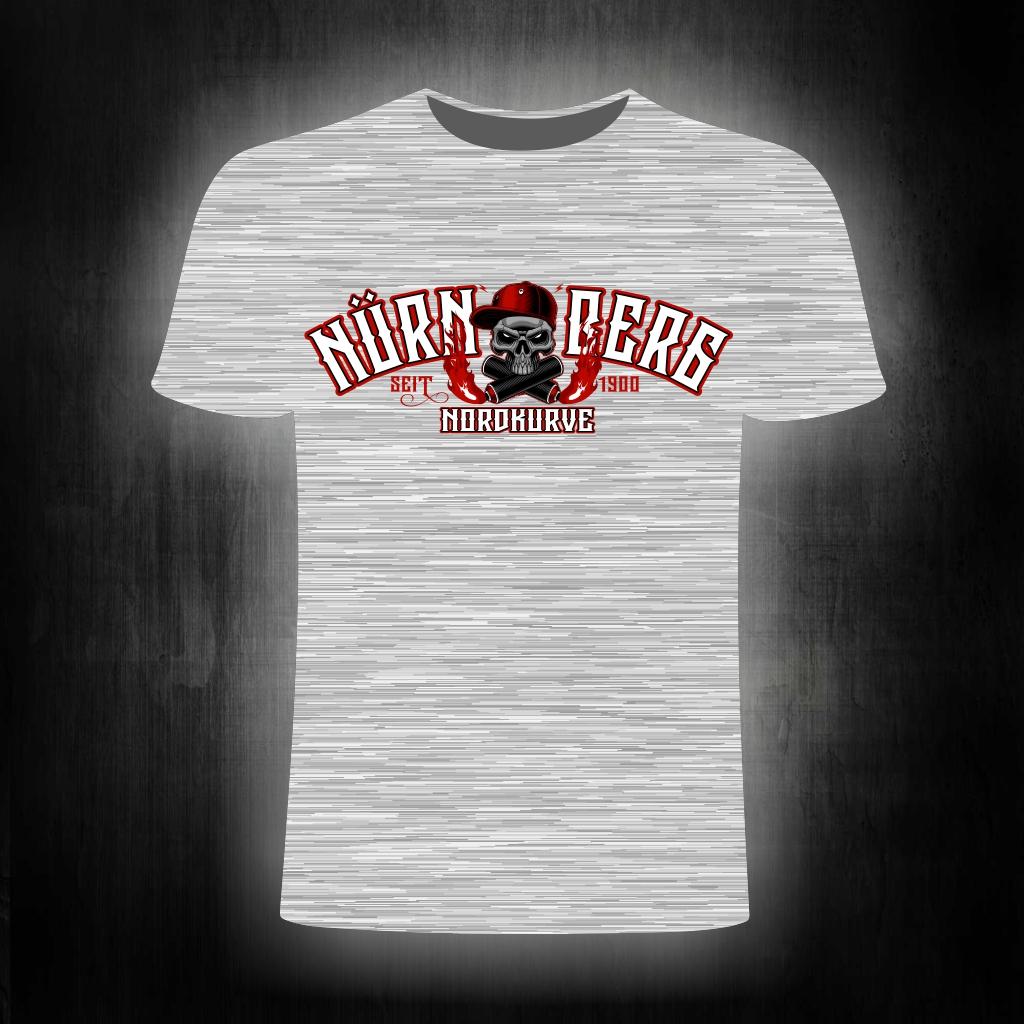 T-Shirt einseitig bedruckt  Skull Nordkurve