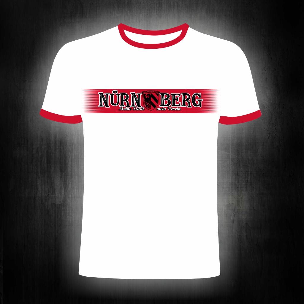 T-Shirt einseitig bedruckt  Meine Stadt, mein Verein  weiß