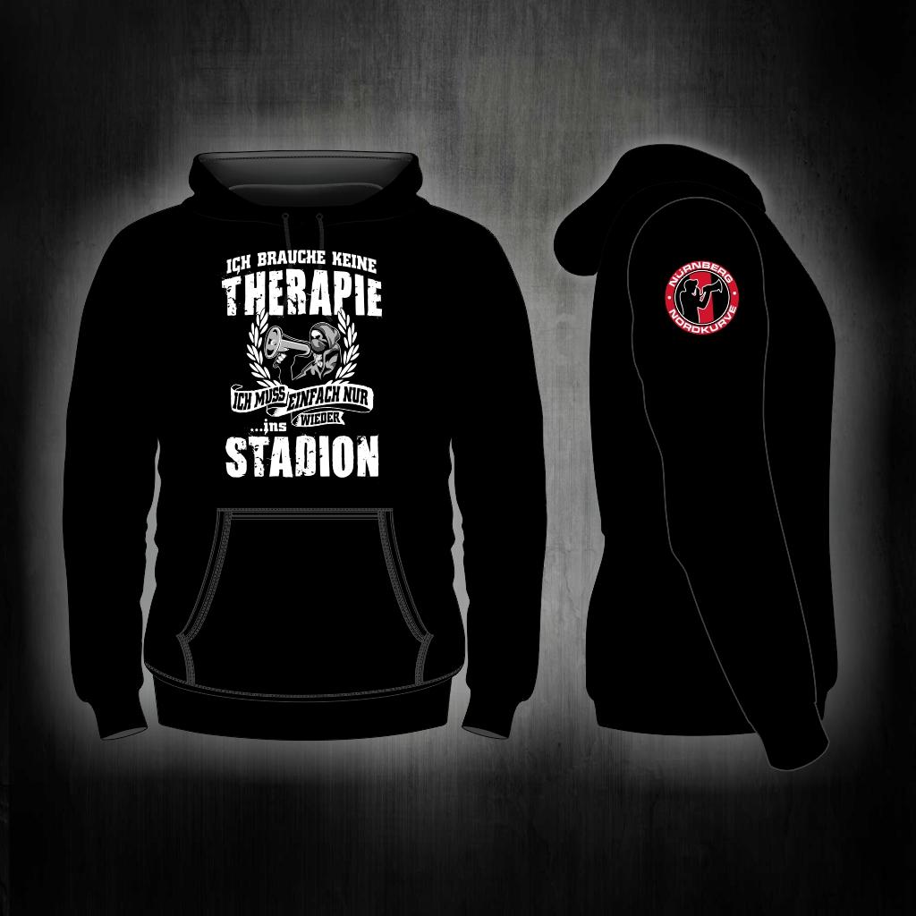 Kapuzen Sweatshirt Front + Ärmeldruck  - Ich brauche keine Ther