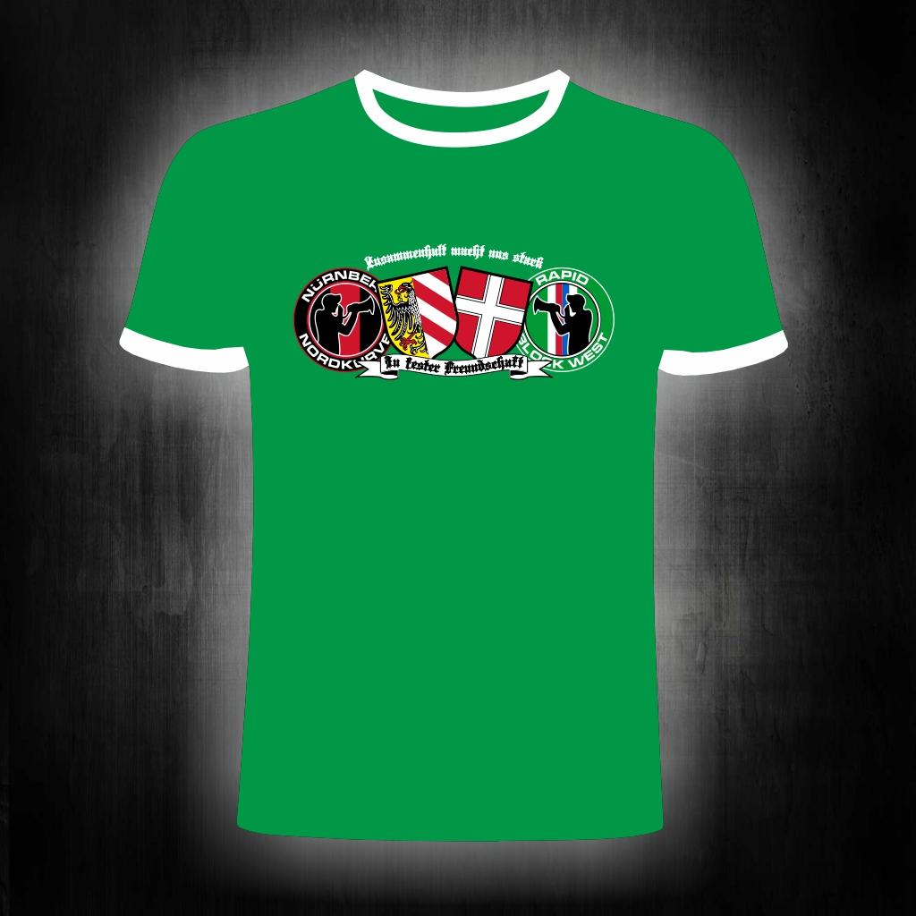 T-Shirt einseitig bedruckt  Club Rapid Freundschaft Zusammenhalt