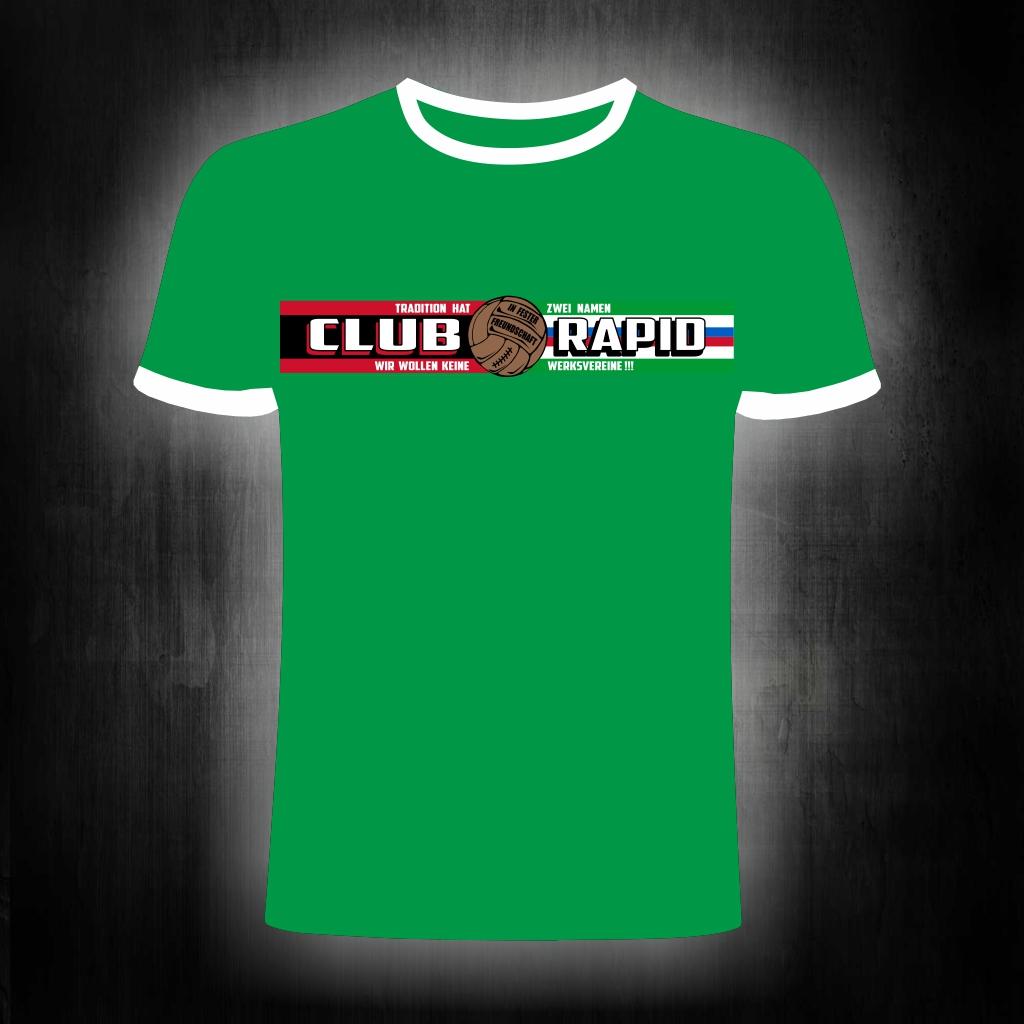 T-Shirt einseitig bedruckt  Freundschaft Rapid grünes T-Shirt