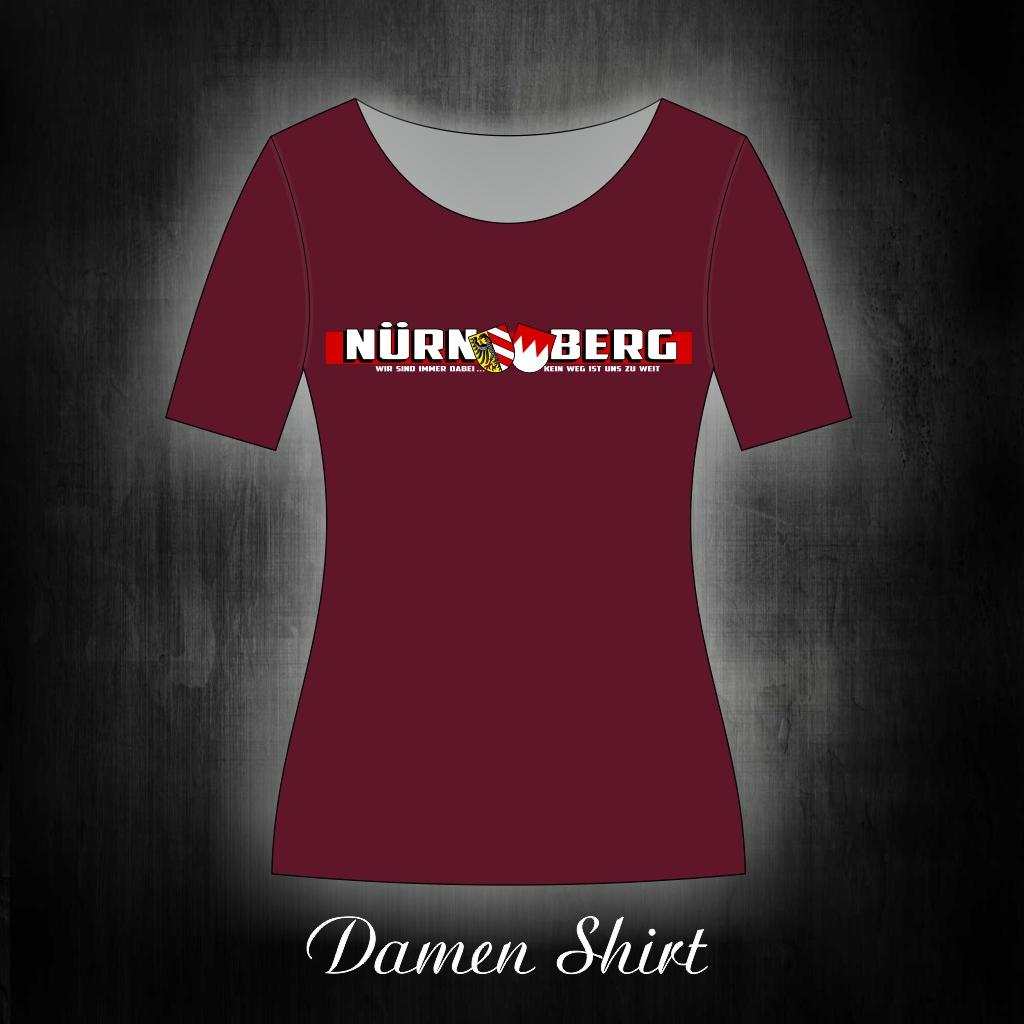 Damen T-Shirt einseitig bedruckt  Wir sind immer dabei