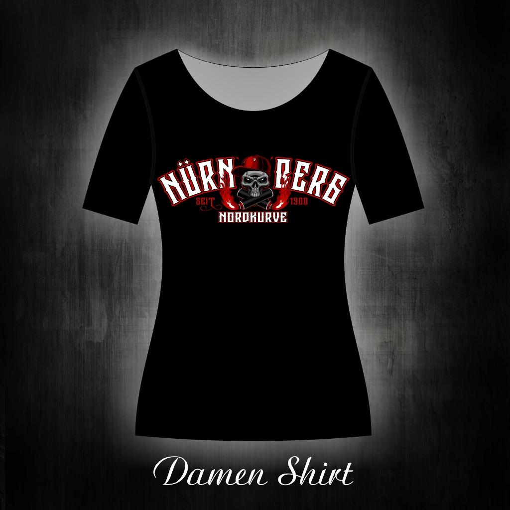 Damen T-Shirt einseitig Skull Nordkurve