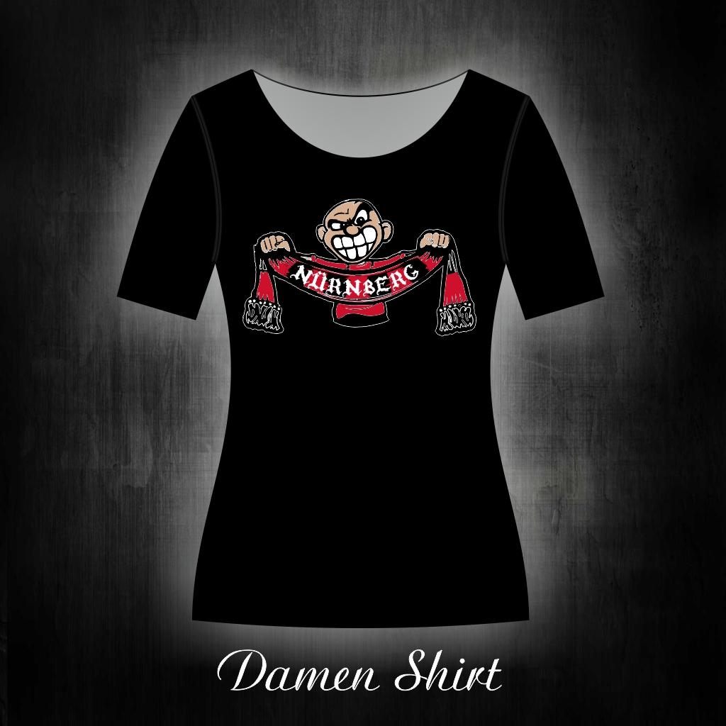 Damen T-Shirt einseitig bedruckt freundlicher Schalhalter