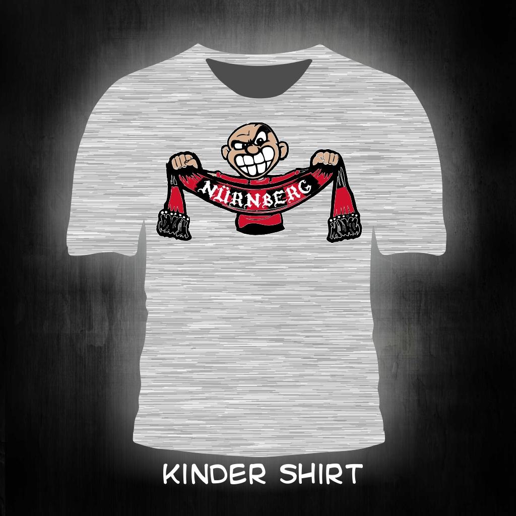 Kinder T-Shirt einseitig bedruckt Schalhalter grau meliert