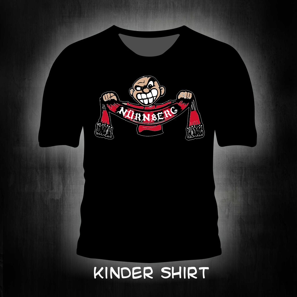 Kinder T-Shirt einseitig bedruckt Schalhalter schwarz
