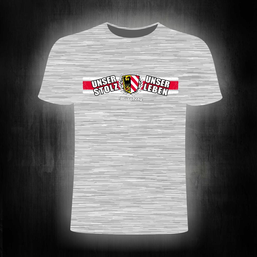 T-Shirt einseitig bedruckt  Unser Stolz  unser Leben  grau melie